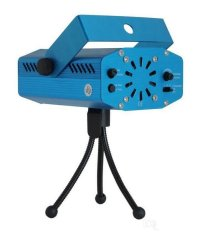 Mini Laser Stage Light Multicolor Projector & Tripod - Biru