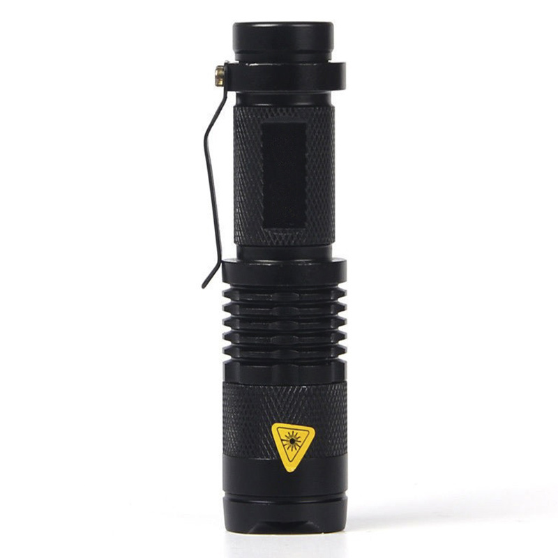 Toko Mini Led Torch Led Flashlight Adjustable Fokus Zoom Lampu Kilat Lampu Hitam Intl Tiongkok