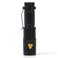 Beli Mini Led Torch Led Flashlight Adjustable Fokus Zoom Lampu Kilat Lampu Hitam Intl