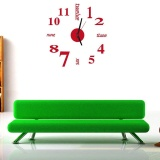 Review Mini Modern Diy Wall Clock 3D Sticker Design Home Office Room Decor Rd Intl Di Tiongkok
