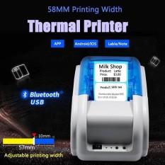 Mini Portable 58mm Nirkabel Bluetooth Receipt Thermal Printer untuk IOS Android-Intl