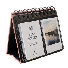 Mini Portabel 68 Foto Album Pernikahan Kalender Meja Kantong Ulang Tahun Wisuda Sayang Valentine 'S Day Hadiah Hari Ibu For Polaroid 7.62 CM Es Gambar Kartu Nama Berwarna Merah Muda-Internasional