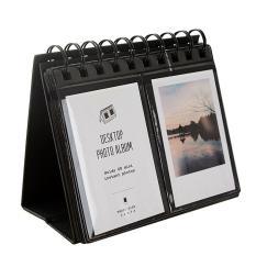 Mini Portable 68 Kantong Kalender Meja Foto Album Pernikahan Anniversary Wisuda Bayi Valentine Day Ibu Hari Hadiah untuk Polaroid 3 Inci Gambar Kartu Bisnis Hitam-Intl
