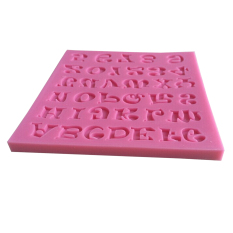 Mini Silikon Cetakan Kue Buatan Tangan Huruf And Nomor Fondant Kerajinan Dekorasi Kue Jamur Diseduh Sendiri Alat Pembuat Roti For Dapur Kue Berwarna Merah Muda