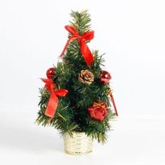Ukuran Mini Pohon Natal dan Festival Hotel Rumah Kantor Pesta Ornamen Dekorasi Hadiah Spesifikasi: merah 30 Cm LUCKY-G-Internasional