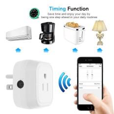 Mini Wifi Pintar Steker dengan ON/Mati Dukung Kontrol APP Telepon Di Mana Saja dan Kapan Saja Fungsi Waktu, kontrol Suara untuk Amazon Alexa untuk Google Rumah/Sarang Ifttt untuk Tp-link (2 Pack) -Internasional