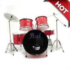 Miniatur Drum Set Gnl Drum M-001 Merah