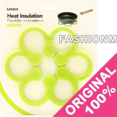 Spesifikasi Miniso Green Flower Silicone Heat Insulation Placemat Heat Resistant Pads Yang Bagus