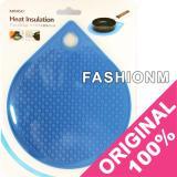 Diskon Miniso Heat Insulation Trivet Placemat Heat Resistant Pads Alas Tatakan Panci Panas Blue