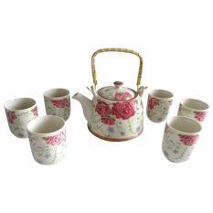 Jual Mitra Loka Cangkir Set Keramik Teko Handle 7Pieces Cangkir Keramik Tea Set Cangkir Teh Dan Kopi Teko Keramik Unik Teko Set Mitraloka Branded