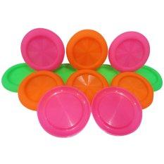 Mitra Loka - Tutup Gelas Plastik Set Isi 12pcs Warna Warni