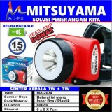 Review Tentang Mitsuyama High Power Headlamp Lampu Senter Kepala 2In1 Rechargeable Serbaguna Tahan 15 Jam Warna Random