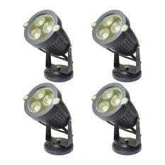 Miyalux Lampu Sorot LED 3watt - Putih - 4 Buah