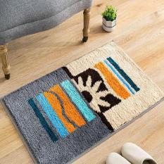 Modern Anti-Slip Karpet Lantai Dapur Super Penyerap Karpet untuk Ruang Tidur Kamar Mandi Lembut Pakaian Kaki Samping Kasur Bisa Dicuci Keset Pintu Masuk 45X65 Cm (Beige) -Intl