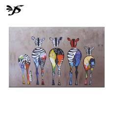 Lukisan Lukisan Modern Pola Zebra Rumah Kamar Tidur TV Dinding Latar Belakang Sofa Latar Belakang Koridor Decor-Intl