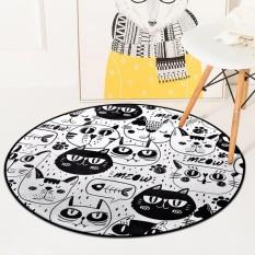 Moderen Lantai Tikar dan Karpet Anti Selip Mudah Dicuci Karpet untuk Ruang Tamu Kursi Komputer Sofa Karpet Anak Playmats Bantalan 100 CM-Internasional