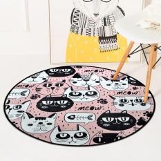 Moderen Lantai Tikar dan Karpet Anti Selip Mudah Dicuci Karpet untuk Ruang Tamu Kursi Komputer Sofa Karpet Anak Playmats Bantalan 60 Cm-Internasional