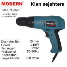 Harga Modern M 2122 Mesin Bor Obeng Bor Screwdriver Drill Baru