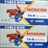 Beli Modern Mesin Gergaji Potong Meja 8 Inch Circular Saw Duduk Ts 8 Online Terpercaya