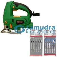 MODERN Mesin Jigsaw 2200L & BOSCH Mata Gergaji Kayu T101AO Besi T118A