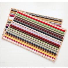 Modern Minimalis Bergaris Karpet Ruang Tamu Tikar Kamar Tidur Karpet Kamar Mandi Rug Meja Kopi Lantai Hallway Door Mat 34X64 CM