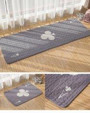 Modern Printed Rugs untuk Kamar Tidur Mesin Cuci Dicuci Lantai Karpet Anti-slip Cotton Kids Room Mat 50*135 CM-Intl