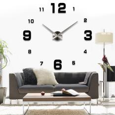 Besar Gaya Modern Sederhana Dibetulkan 3D Wall Sticker Jam Time To Dekorasi Rumah Kantor Hitam Diskon Akhir Tahun