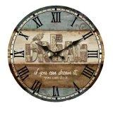 Monkizz Vivian Wooden Wall Clock Dream Series Murah
