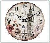 Tips Beli Monkizz Vivian Wooden Wall Clock Flower Series Yang Bagus