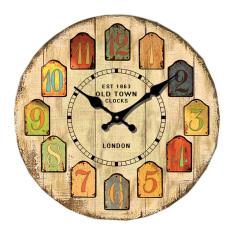 Katalog Monkizz Vivian Wooden Wall Clock Old Town Series Monkizz Terbaru