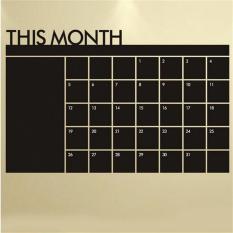Bulanan Papan Tulis Papan Tulis Blackboard Stiker Dinding Kalender Memo DISEDUH SENDIRI-Internasional