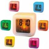 Moody Digital Clock Weker Unik Berubah Warna Kubus Putih Asli