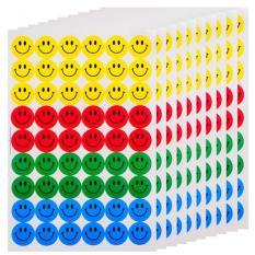 Jual Moonar 20 Buah Bulat Anak Like Kartun Cantik Wajah Senyum Stiker Empat Jenis Online