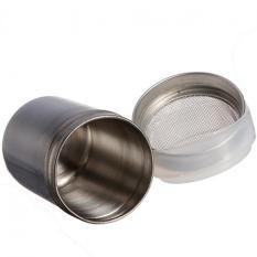 2 Buah Stainless Steel Bahan Garam Bubuk Ayak For Cokelat Coco Bubuk Silinder Moonar