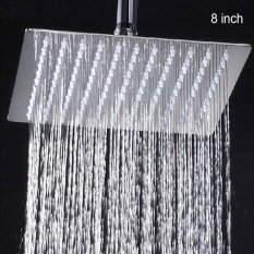 Moonar 8 Inch Bathroom Round Square Chrome Top Water Rainfall Spray Shower Head Square Intl Tiongkok