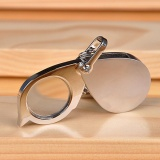 Beli Moonar Folding Mudah Dibawa Loupe Perhiasan Gantungan Kunci Mini Pocket 10X Mikroskop Magnifier Pakai Kartu Kredit