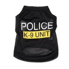 Moonar Pet Anjing Ini Adalah Polisi-polisi Am Hotel Pakaian Rompi Jaket Mantel Hitam
