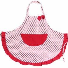 Toko Moonar Merah Bintik Dasi Kupu Kupu Celemek Dapur Aksesoris Untuk Wanita Perempuan Memasak Kue Lengkap