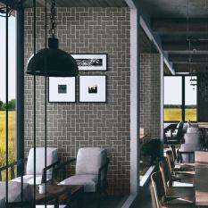 Moonar Vintage 45*100 Cm Oblique Pola Bata Self Adhesive Tahan Air Stiker Dinding untuk Kamar Tidur Ruang Tamu Kitchen Furniture Decor-Intl