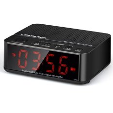 Moreno Desktop Bluetooth Speaker Alarm Clock - KD-66 - Hitam