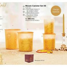 Mosaic Canister Set Gold Tupperware Toples Promo Murah - Dpjuxw