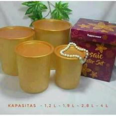 Mozaic Canister Set Gold Tupperware - Wwmmfa