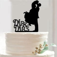 Harga Mr Mrs Bride And Groom Wedding Love Cake Topper Party Decoration Gift Intl Yang Bagus
