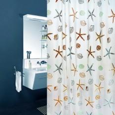MS Gethome Starfi Kerang Anti-Air Bathroom Pancuran Tirai Withhooks 180X200 Cm 3 #-Internasional