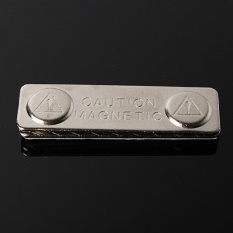 Mstore 45 Mm X 13 Mm Papan Nama Magnet Lencana Tag Pengikat ID Pemegang Logam Cardstrong Magnet-Internasional
