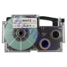 MStore Kompatibel dengan Casio Ez-label Tape 18mm Hitam Putih Xr-18We1 8 M