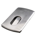 Diskon Produk Mstore Foonee Stainless Steel Jari Geser Slide Business Kredit Namecard Case Holder Silver Intl