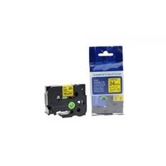 MStore P Touch Label Tape untuk Brother Tze-S251 Label Printer; Hitam Di Kuning; Paket Tunggal; Setiap Tape Adalah 24mm (1 Inch) Lebar dan 8 Meters (26 Kaki)-Intl