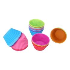 Muffin Round Silicone Cup Cake Tool Cupcake Mold Intl Terbaru