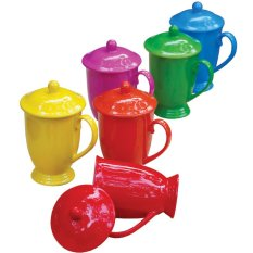 Mug Set Rainbow Dan Tutup Vicenza M30 6 Pcs / Cangkir Set Original